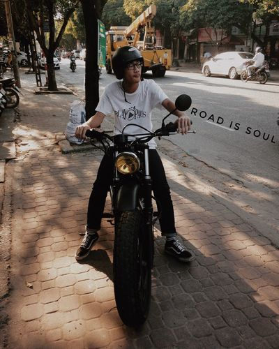 Road is soul Street Day Sky Road Saigon Vietnam Home Scrambler Sunset Vintage