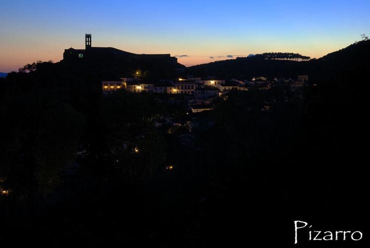 Paisaje Cerro Almonaster Huelva Andalucía España Noche