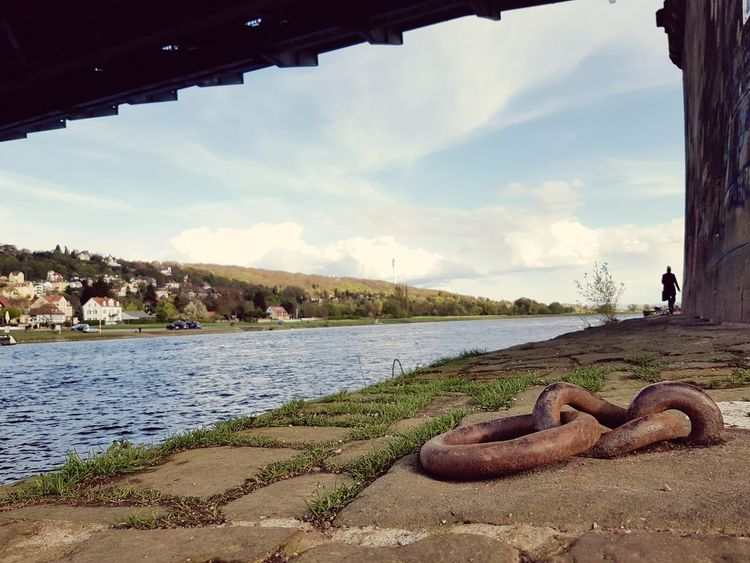 Cloud - Sky Water People One Person Elbe River Outdoors Architecture Sky