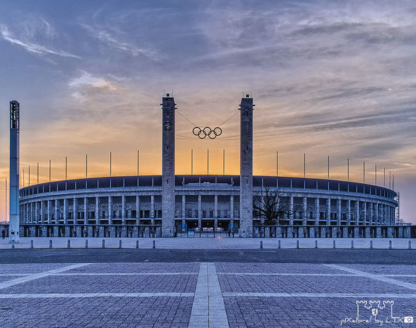 Theater of Hopes and Dreams... Berlin Sunset Clouds And Sky Architecture Charlottenburg  Football Football Stadium Stadium Olympic Stadium Historical Sights