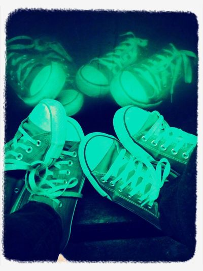 Happy hour calls for chucks. Matching chucks, apparently.