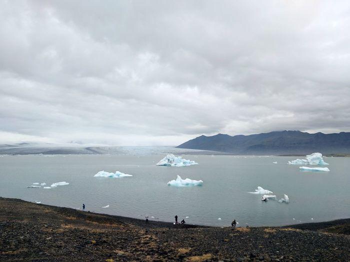 Icebergs Lagoon Water Sea Mountain Occupation Polar Climate Sky Iceberg - Ice Formation Iceland Ice