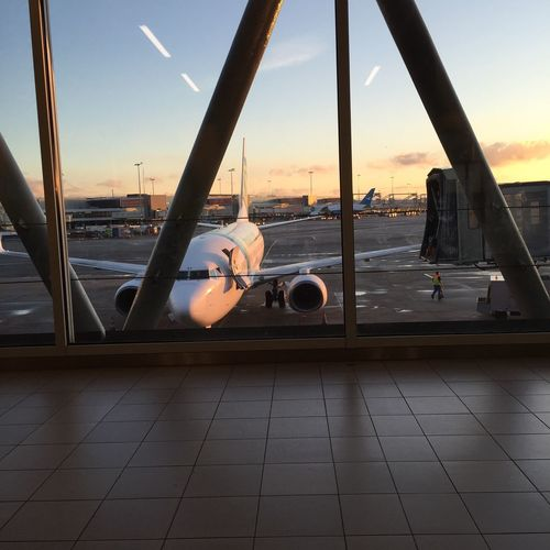 Airport Airplane Sunset BonVoyage View Taking Photos Photography From My Point Of View Enjoying The View Schiphol Relaxing First Eyeem Photo