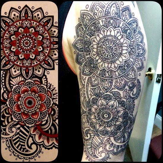 Outline done Tattoo Customdesign Torstenmatthes Mrttattoo Lace Mandala Fullcustomtattoo Tattooartist  Check This Out
