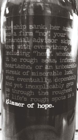 bottle of vine quote for the day
