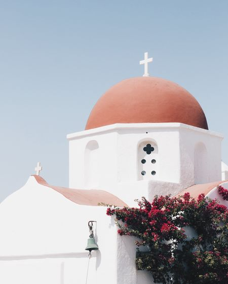 Traveling EyeEm Selects TheWeekOnEyeEM EyeEm Best Shots Beautifuldestinations Mykonos Travel Destinations EyeEm Gallery Travel Cyclades Greece Building Exterior Place Of Worship Built Structure Architecture Religion Nature Spirituality Belief Plant Clear Sky White Color Building Dome