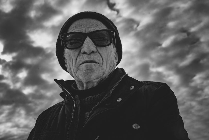 Badass Grandpa Senior Adult Dramatic Sky HDR Expressive Portrait Headshot Spooky Sky Cloud - Sky Evil Lightning Ominous Gangster This Is Masculinity Inner Power This Is Aging