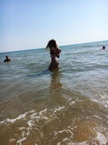 Sea Water Beach Nature Lifestyles Horizon Over Water Beauty In Nature Clear Sky Summer Summer2017 Pretty Girl Popular Photos Popular Hello World Beautiful Goodday Blond Hair Looking At Camera Sky Casual Clothing ☀️ Sun 😍😌😊 ❤❤❤ Nature Long Hair