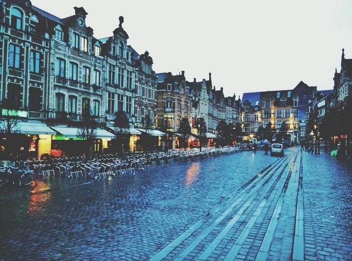 Leuven Flanders Belgium Oude Markt Architecture Urbanphotography Cafe Terrace Rain Urban Lifestyle The Architect - 2016 EyeEm Awards