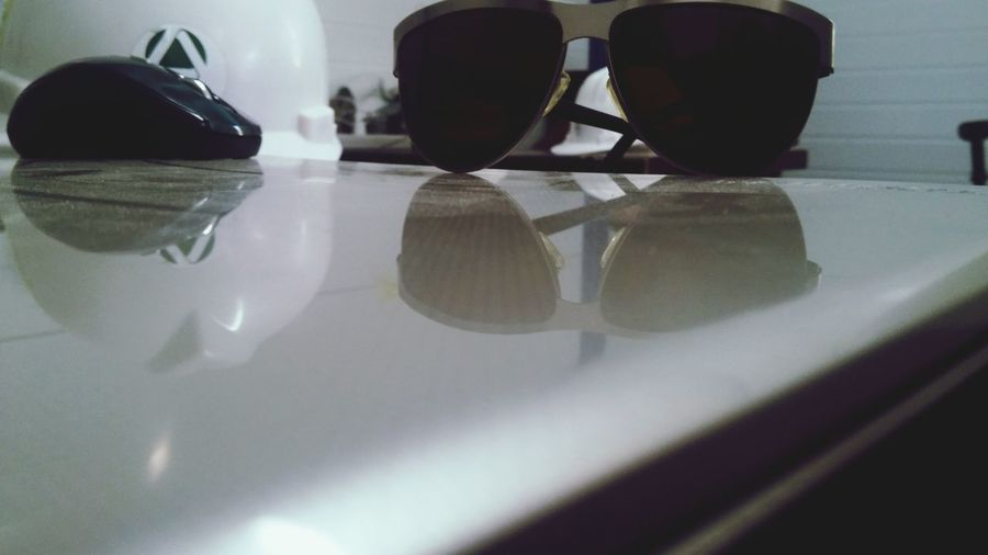 Glass Sunglasses Reflection Indoors  Close-up No People Day