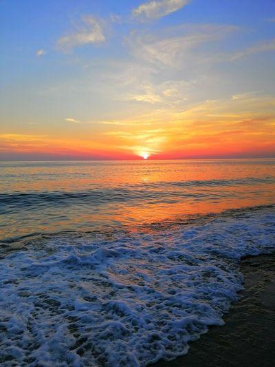 Water Wave Sea Sunset Beach Summer Sun Idyllic Reflection Awe Romantic Sky