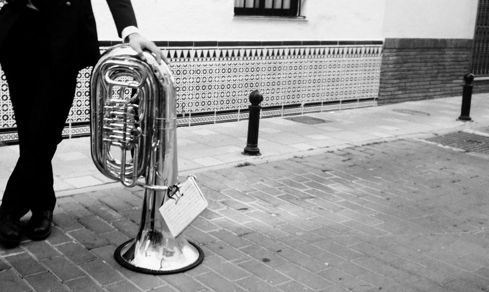 Waiting Outdoors Tuba Musical Instrument Instant FUENGIROLA  Malaga Spaın