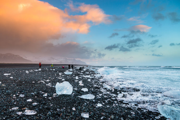 Beatiful Beatiful Nature Beatiful Place Beauty In Nature Cloud Cloud - Sky Coastline Frozen Horizon Over Water Ice Iceland Iceland_collection Nature Outdoors Scenics Sea Seascape Sky Vacations Water The Great Outdoors - 2016 EyeEm Awards