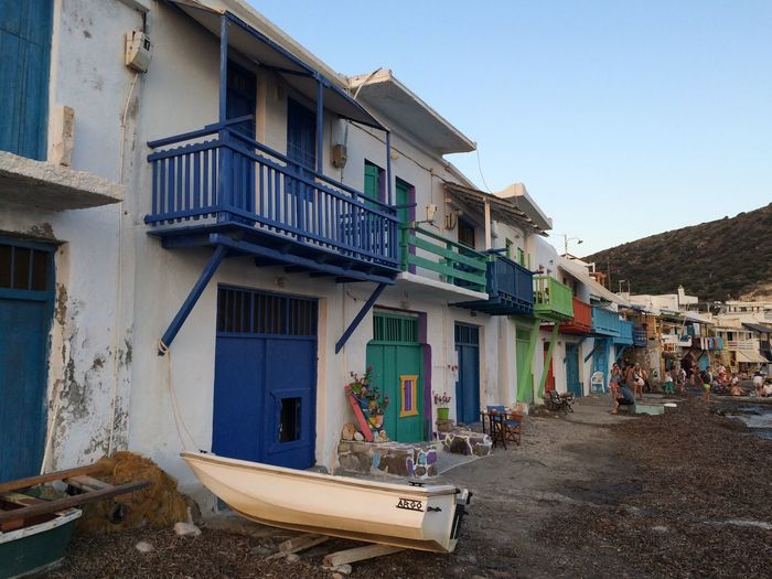 Colorful houses in a Greek village Architecture Boat Building Exterior Colorful Colorfull Houses Miles Away Fishing Village Greece House Human Settlement In A Row Landscape_photography Milos Island Residential District Shore Summer Village Village By The Sea Village View Landscapes With WhiteWall Colour Of Life