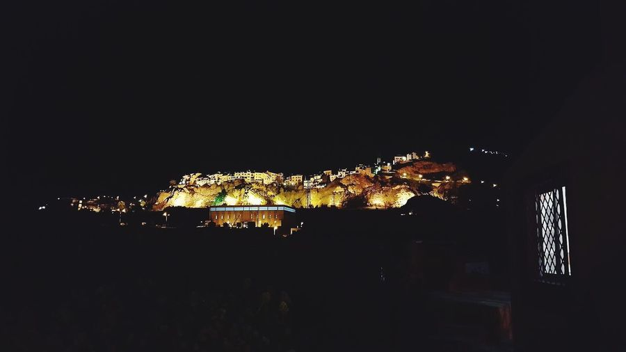 Beautiful view of Finestrat At Night! Checkitoutworld Costablanca Scenic. Illuminated Architecture