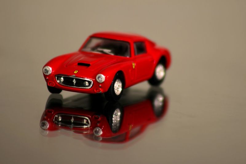 Close-up Ferrari 250 GT/E Indoors  No People Old-fashioned Racecar Red Reflection Retro Style Technology