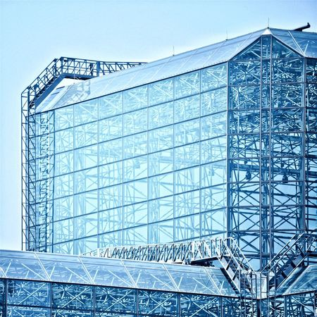 Jacob Javits Center Architecture Built Structure Modern Low Angle View No People Day Building Exterior Outdoors Sky Jacobjavitscenter Jacob Javits Convention Center New York City The Architect - 2017 EyeEm Awards The Architect - 2017 EyeEm Awards