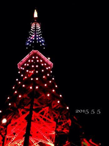 昨夜…娘2人にドライブ🚗せがまれ………東京タワー💗✨✨✨行って良かった。 夜更かし 東京タワー 東京 Tokyo,Japan Tokyotower こどもの日 鉄塔♡Love 夜景