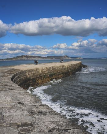 Sea Water Sky Tranquil Scene Coastline Cobb Lyme Lyme Regis The Cobb Thecobb Wave Waves Peaceful Peace