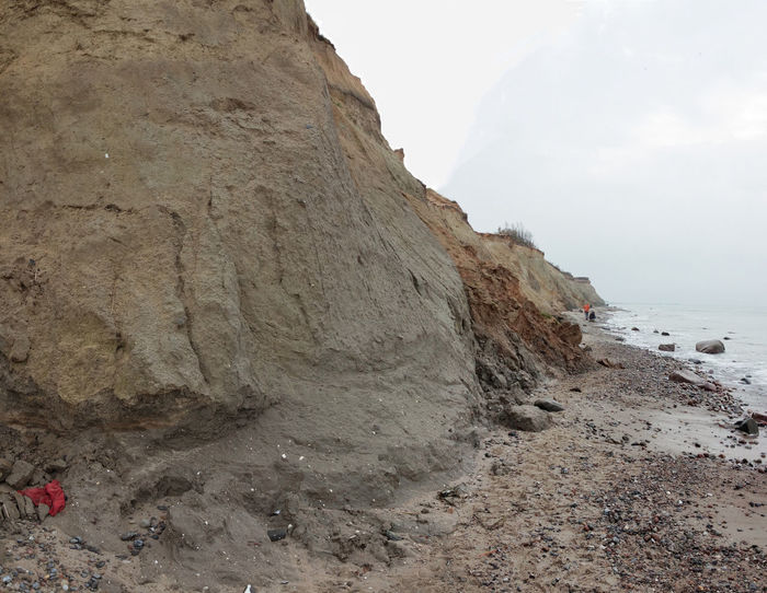 Cliff near Ahrenshoop Cliff Erosion Fragile High Low Angle View No People, Outdoors Panorama Power In Nature Sea Sea And Sky