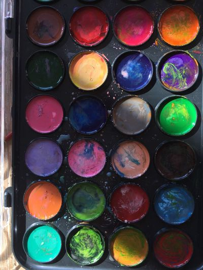 PaintBox Paint Multi Colored Palette Full Frame No People Backgrounds Day Close-up