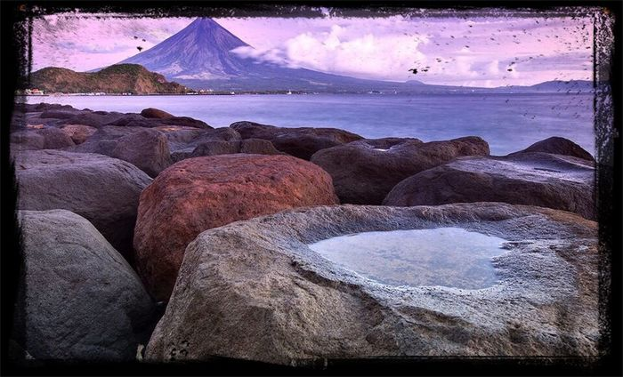 The famous Mayon Volcano