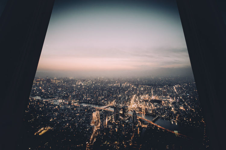 This city. City Japan Lights Neon Night Sky Skytree Sunset Tokyo Tokyo Tower Urban Landscape Window Pmg_tok