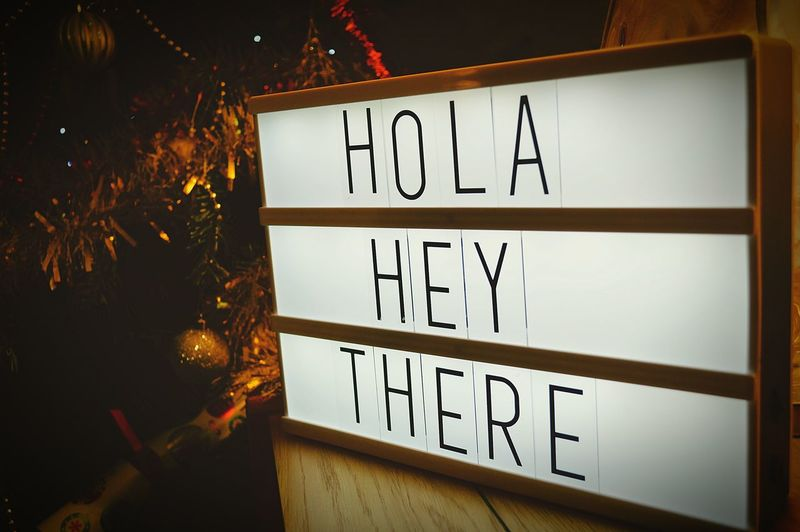 Lightbox Greetings Greetings Hola Hey There Lightbox Christmas Decorations Christmas Time United Kingdom Nikon D3200