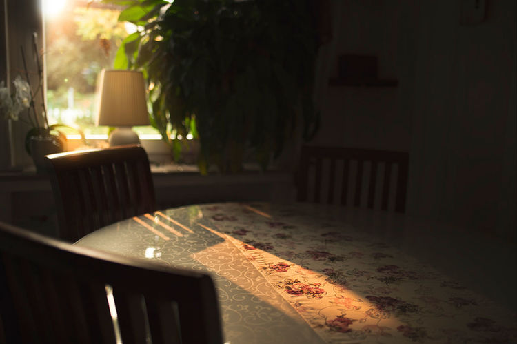 Sunny morning - table is flooded with light from window Atmosphere Dining Room Morning Romantic Sunny Abstract Available Light Background Brown Concept Furniture Home Interior Incidence Of Light Indoors  Interior Lens Flares Rose Pattern Shadow Short Depth Of Field Sunlight Sunray Table Table Clothes Window Wooden Furniture