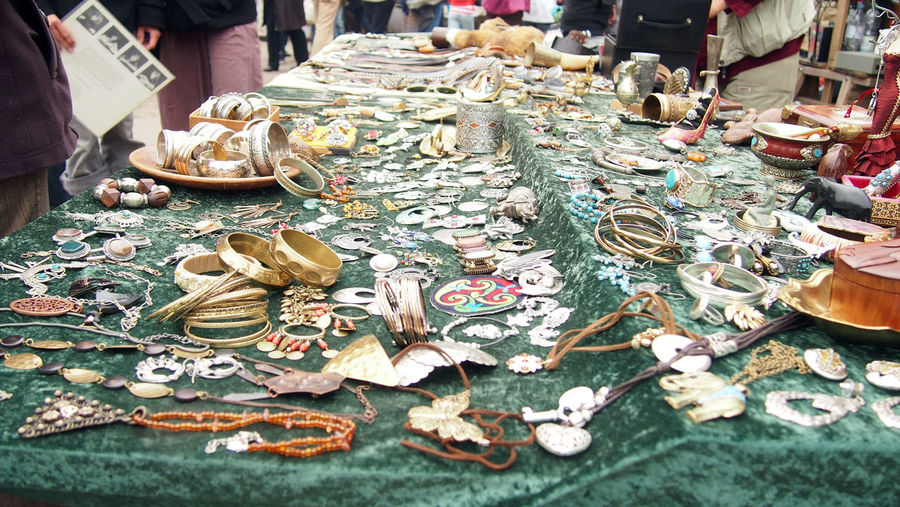 Berlin fleamarket at Mauerpark Berlin Choice Close-up Day Fleamarket For Sale Gold Handmade Handmade Jewellery Jewellery Large Choice Large Group Of Objects Market Mauerpark Outdoors People Retail  Silver  Variation
