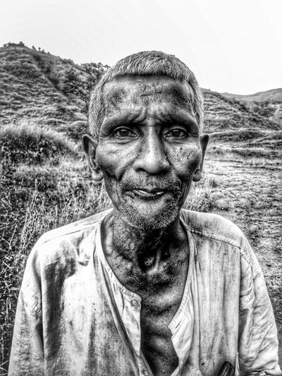 aged EyeEm Best Shots EyeEmNewHere EyeEm Nature Lover EyeEm Selects First Eyeem Photo Valley People EyeEm Gallery Human Body Part Animal Themes Mountain Awesome Portrait Men Looking At Camera Headshot Human Face Front View Sky Close-up Mustache Surreal Agricultural Field Bizarre Surrealism Cultivated Land Field Out Of Context