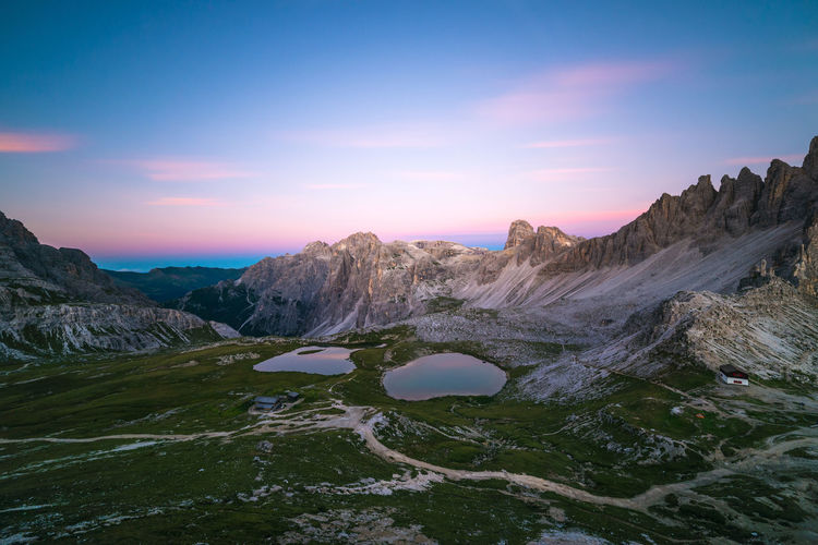 Laghi del Piani Beauty In Nature Blue Dolomites Dolomiti Dramatic Landscape Exposure Flow  Idyllic Italy Landscape Long Majestic Motion Mountain Mountain Range Nature Outdoors Scenics Sky Tourism Tranquil Scene Travel Destinations Tre Cime Di Lavaredo Valley Water