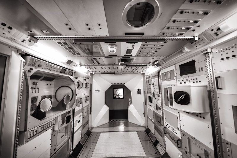 Interior of space station