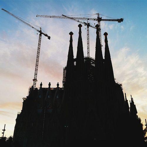 La Sagrada Familia. Su construcción se inició en el 1882 y planean terminarla el 2026. CaminandoBarcelona