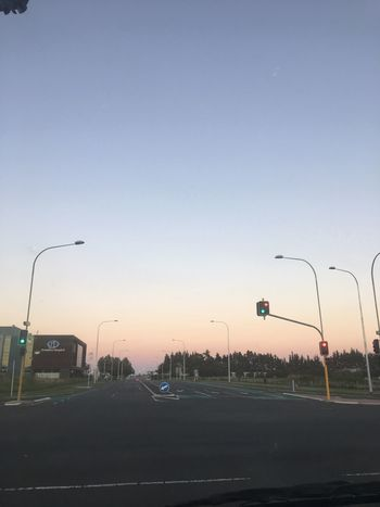 Favourite time of the day Sunset Street Light Transportation Sky Outdoors No People Road Clear Sky Stoplight City Day