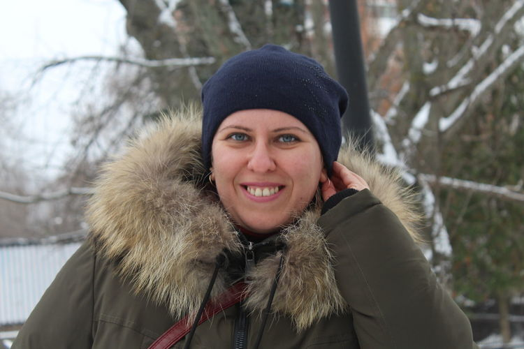 Portrait Cold Temperature Winter Happiness Looking At Camera EyeEmNewHere