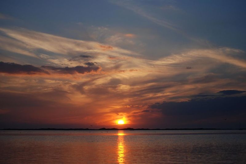 Sunset Scenics Nature Sea Beauty In Nature Sky Tranquility Water Tranquil Scene Horizon Over Water No People Cloud - Sky Outdoors