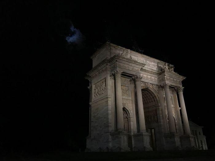 Architecture History Night Built Structure Peace Arch Milano Arco Della Pace