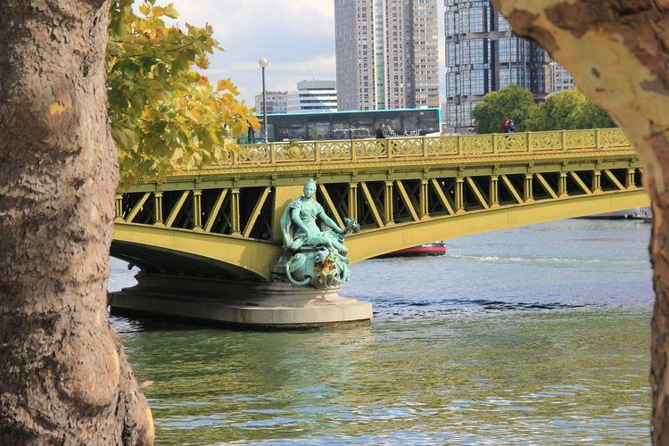 Pont Mirabeau Sky Day Water Laseine Bridge Paris ❤ Building Exterior The Street Photographer - 2017 EyeEm Awards France Paris Je T Aime Pariscity City Paris Parisienne The Architect - 2017 EyeEm Awards Architecture Built Structure