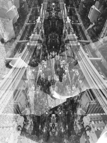Amusement Park Architecture City Day Double Exposure One Person Outdoors Real People Water Park