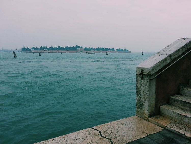 Venice, Italy, laguna skyline Water Sky Day Tranquil Scene Tranquility No People Stone Material Venice, Italy Laguna Laguna Di Venezia  Winter Island Skyline Wintertime Travel Destinations Travel Italy Cold Waterfront Scenics Outdoors Horizon Over Water Horizon Mystery Stairs
