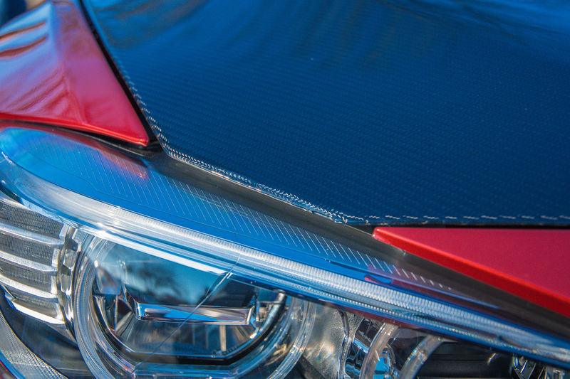 Full frame shot of car hood