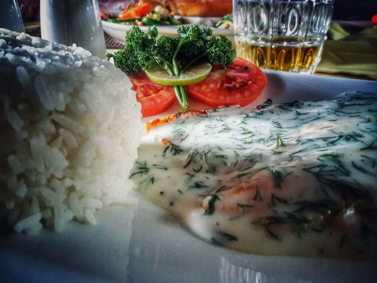 Yummy Food Yummy Tasty Fish Rice Herbs Tomato Beer Pepper Salt Plate Amazing Food Amazing Food Thailand Beautiful Day Holiday Lunch Chilling Peaceful Taking Photos Enjoying Life Hello World