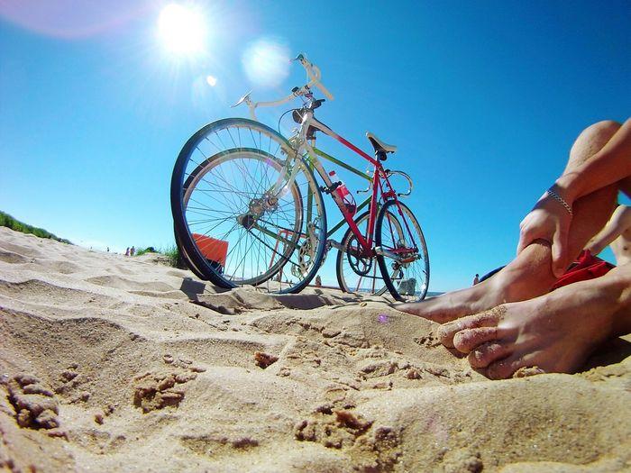 Fixedgear Fixie Beach Cycling On Your Bike