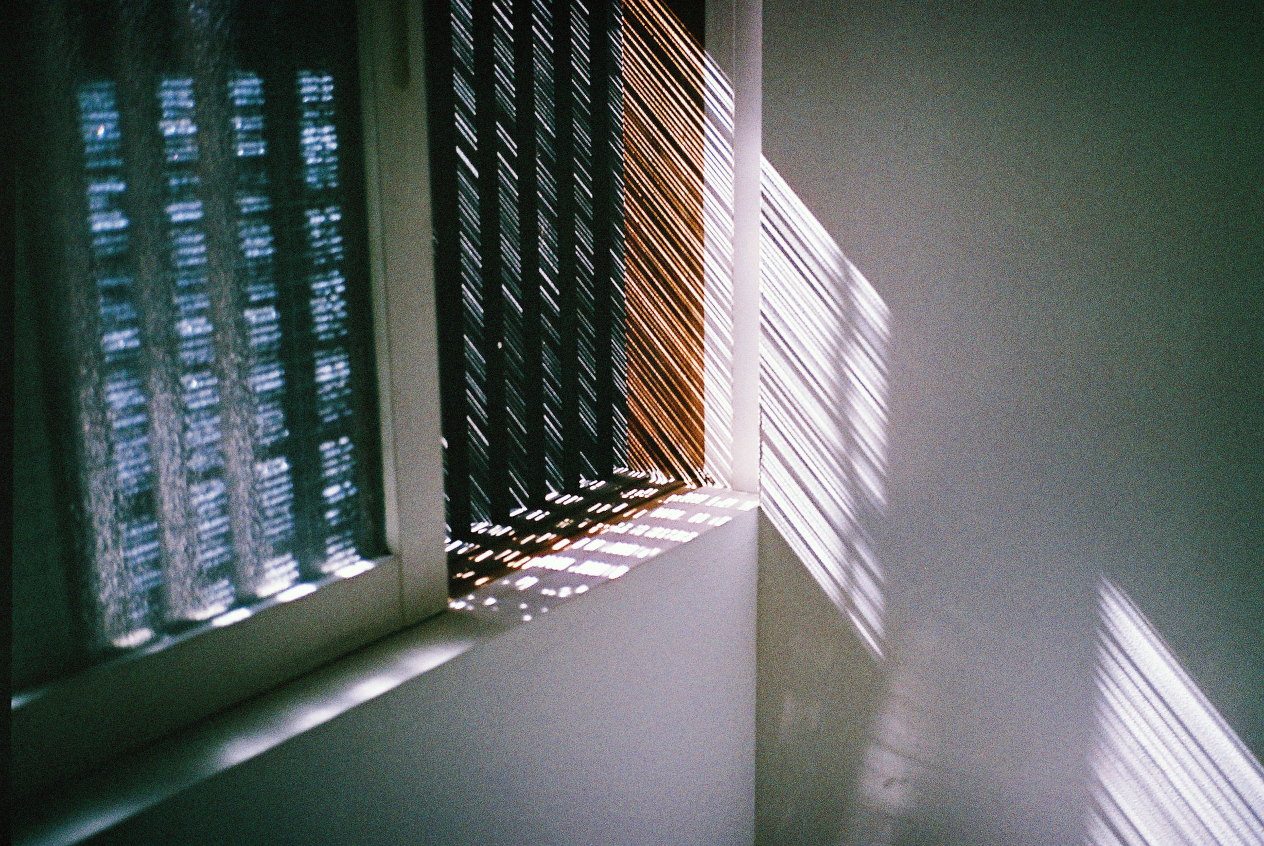 sunlight, shadow, window, architecture, close-up, modern, day, tall - high, surface level, no people