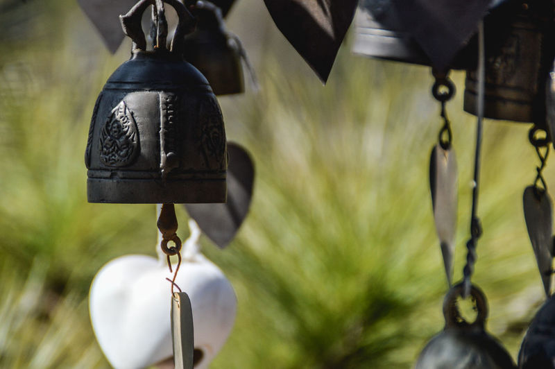 Close-Up Of Cropped Hanging Bells