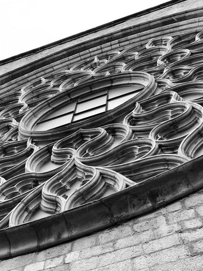 Detail Blackandwhite Photography Gothic Architecture Gothic Style Rose Window No People Day Architecture Built Structure Pattern Outdoors Place Of Worship Spirituality Religion