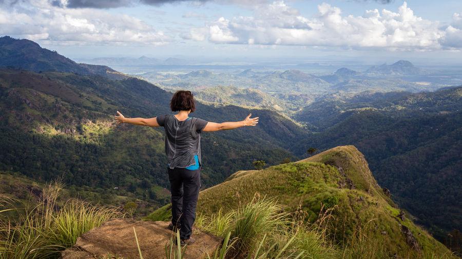 Full length of a man standing on landscape