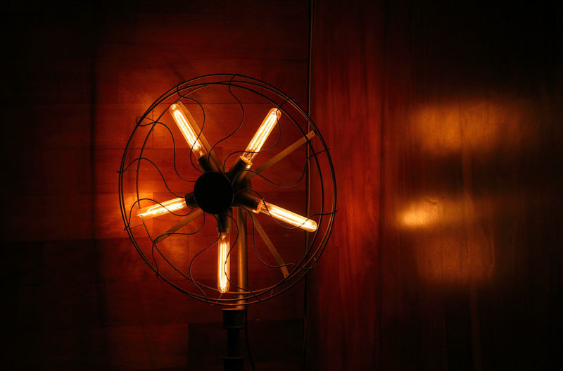 light fan Dark Light Fan Indoors  Light And Shadow Light Fan Lighting Equipment Night Fan Round Light Soft Light Warm Light