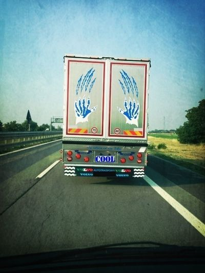 Monster claws on highway Cool Door Cool Truck Trailer Door Trailer
